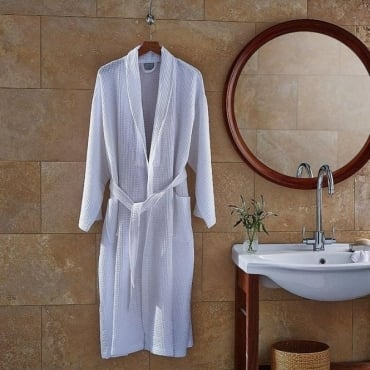 Charlotte Thomas Waffle Bathrobe in White