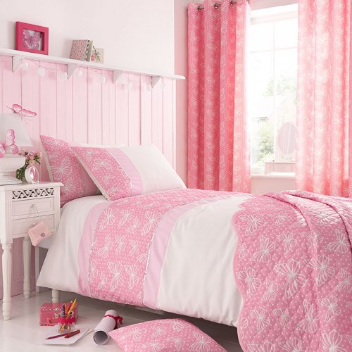 Catherine Lansfield Delicate Butterfly Bed Set Girls Bedding