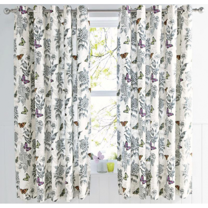 Dreams & Drapes Aviana Butterfly Eyelet Curtains | Bedroom Accessories