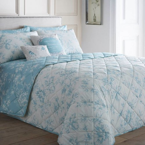 "Bedspread Duck Egg Blue: Dreams & Drapes ""Chepstow"