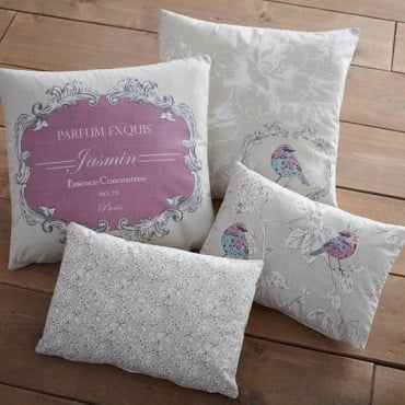 Chepstow Square Filled Cushion in Pink