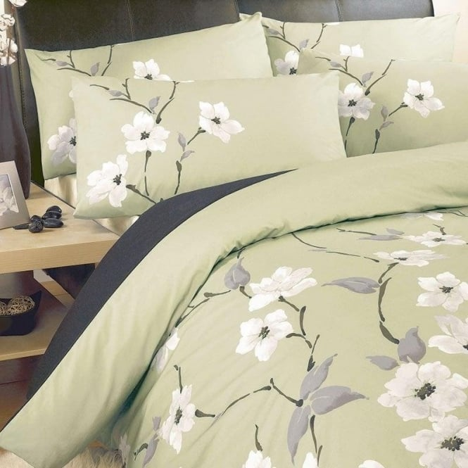 Dreams & Drapes Chichi Duvet Set in Olive Green