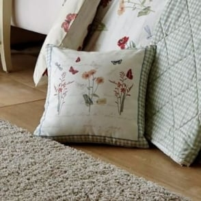 Country Journal Square Filled Cushion
