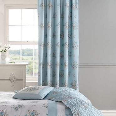 Elodi Pencil Pleat Curtains in Duck Egg Blue