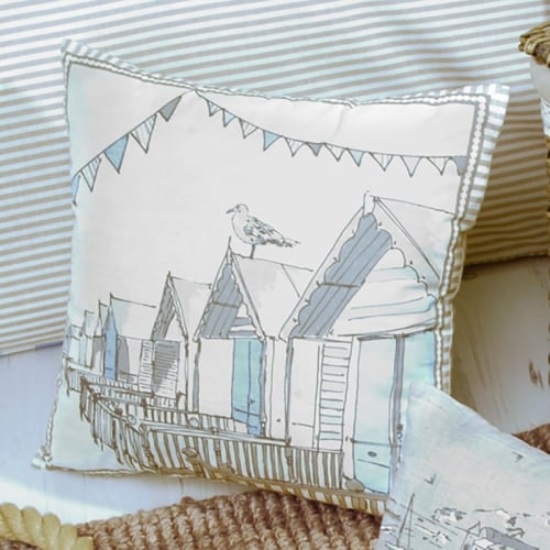 Seaside Print Filled Cushion Dreams Amp Drapes Quot Falmouth