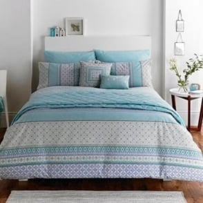 Kalisha Stripe Duvet Set in Blue