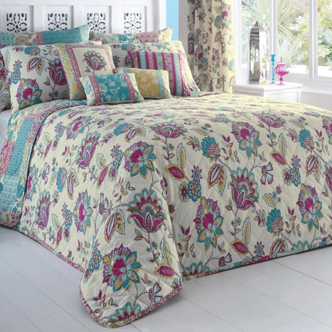 Dreams & Drapes Marinelli Floral & Patchwork Bedspread