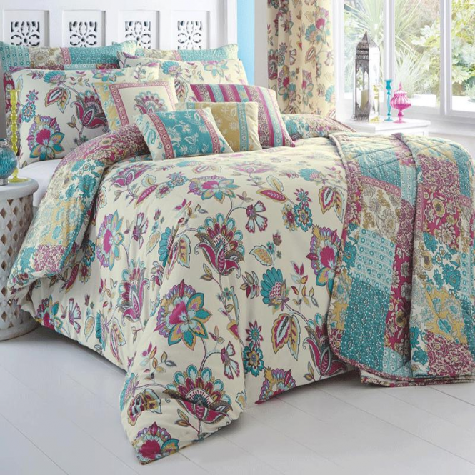Dreams & Drapes Marinelli Floral & Patchwork Duvet Set