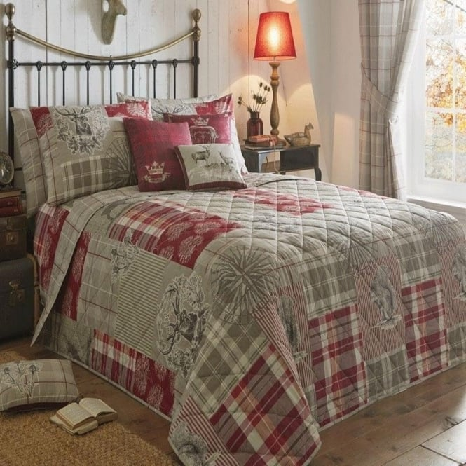 Dreams n Drapes Patchwork Lilac Bedspreads