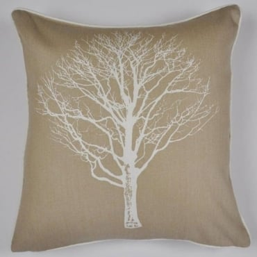 Woodland Trees Cushion in Natural