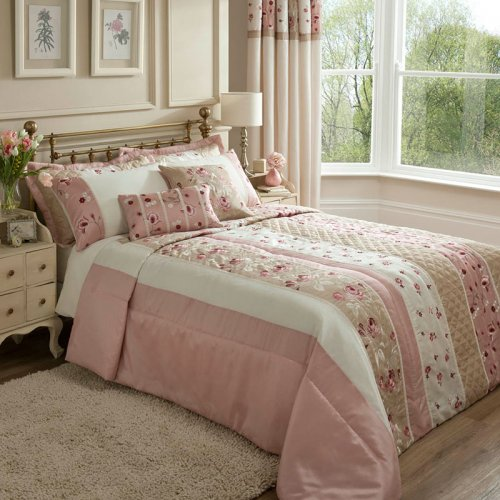 Charlotte Thomas Francesca Quilted Bed Throw In Plum: Catherine Lansfield Imogen Patchwork Bedspread In Pink