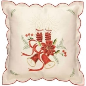 Bells & Candles Cushion Cover in Cream