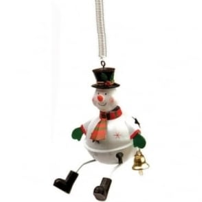 Bouncing Snowman Tree Bauble