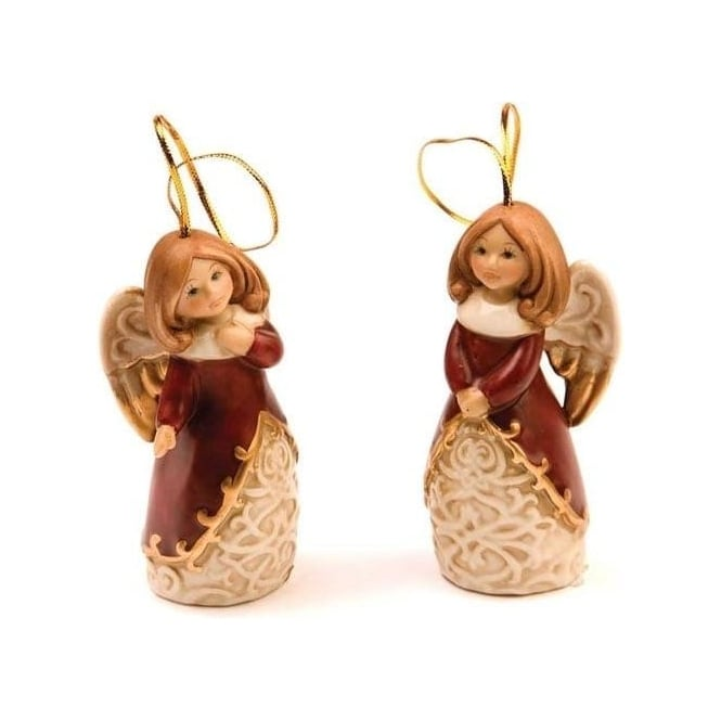 Seaquin Christmas Angels Tree Decorations