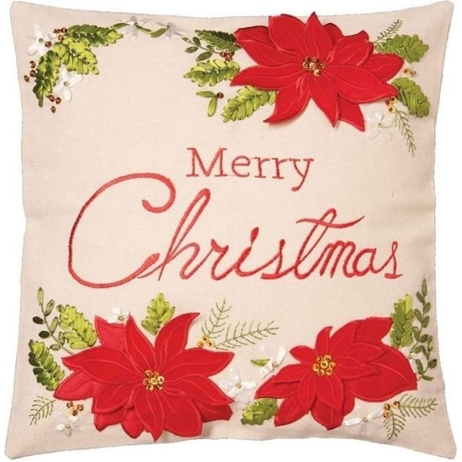 Seaquin Christmas Floral Cushion Cover