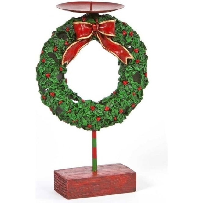 Seaquin Christmas Wreath Candle Holder