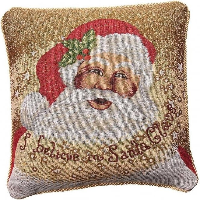 Seaquin Father Christmas Chenille Cushion Cover
