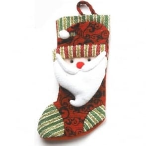 Father Christmas Stocking in Red