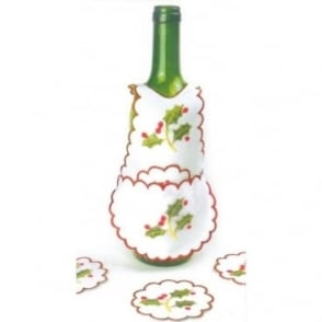 Festive Bottle Bibs & Coasters