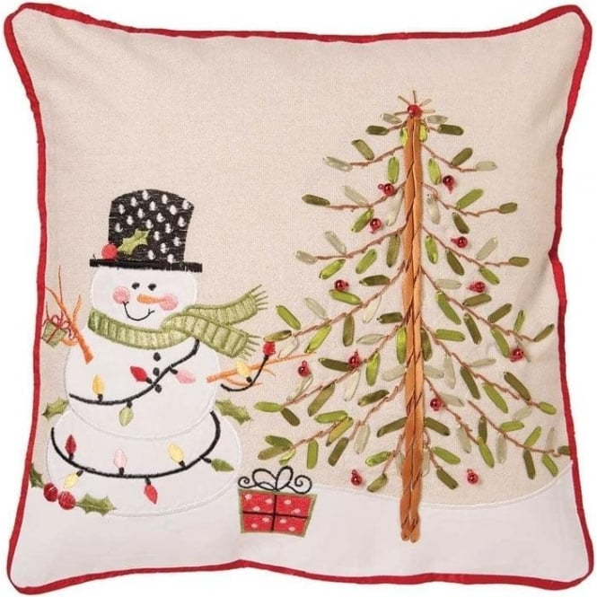 Seaquin Festive Snowman Cushion Cover
