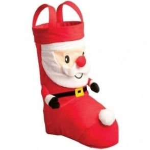 Free Standing 3D Santa Bottle Bag