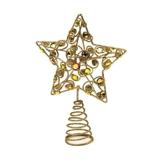 Seaquin Gold Star Tree Topper