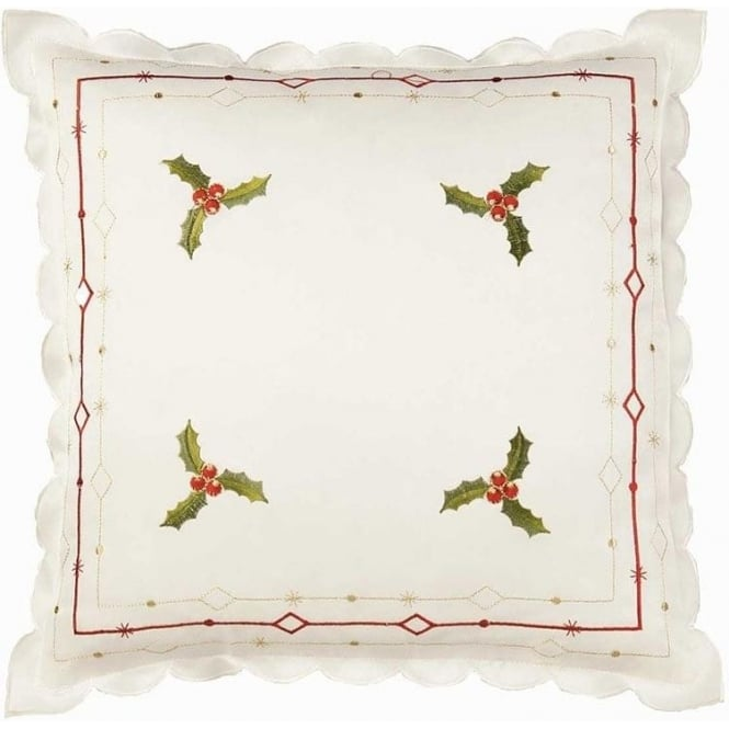 Seaquin Holly Cushion Cover in Cream