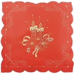 Lavish Cushion Cover in Red