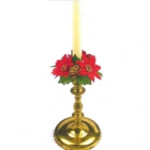 Poinsettia Candle Ring