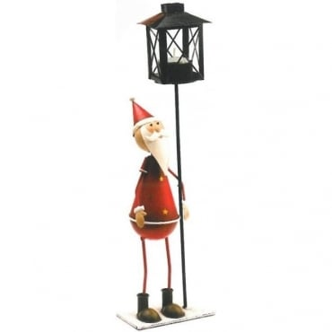 Santa Tealight Candle Holder Stand
