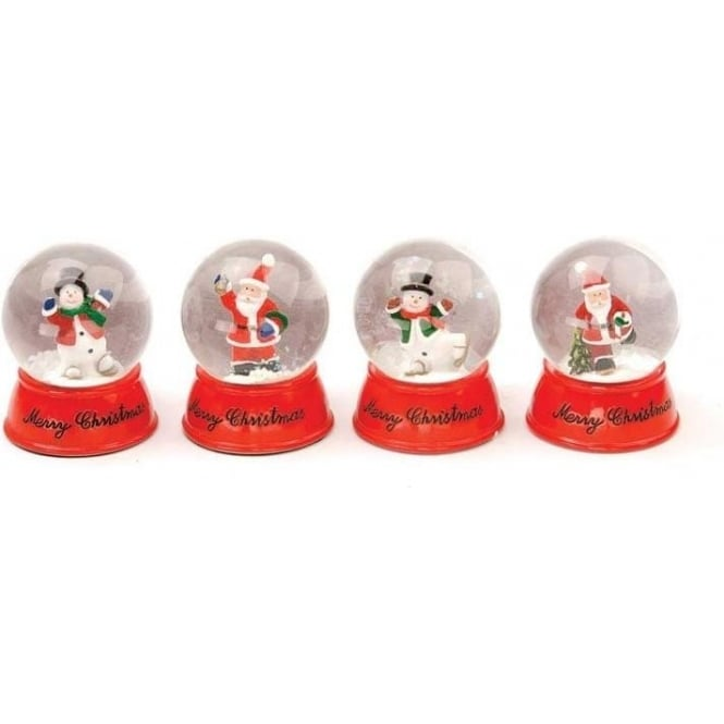 Seaquin Set of 4 Assorted Christmas Snow Globes