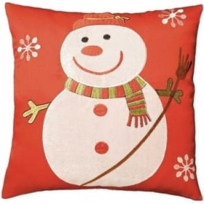 Snowman Appliqué Cushion Cover