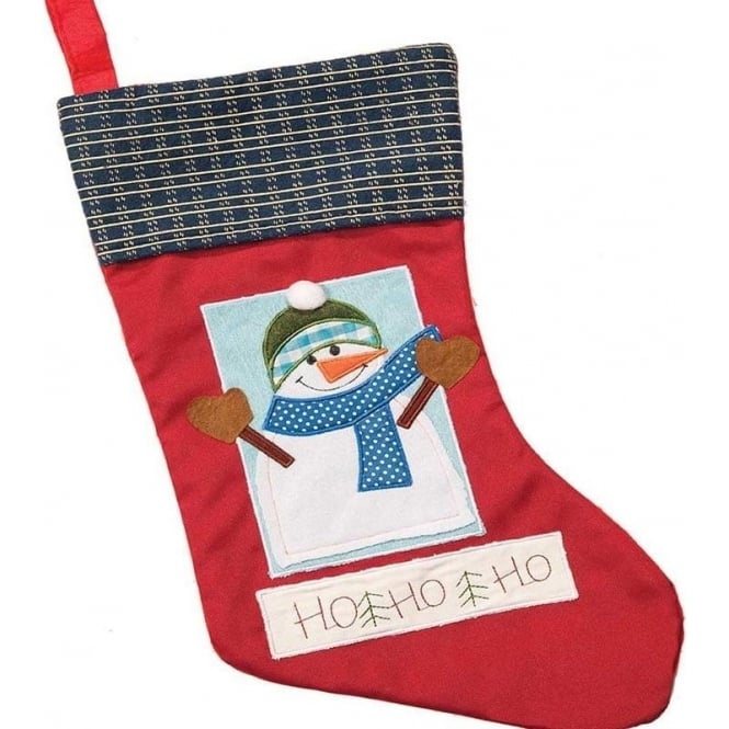 Seaquin Snowman in Window Christmas Stocking