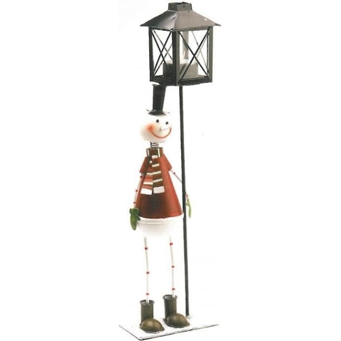 Seaquin Snowman Tealight Candle Holder Stand