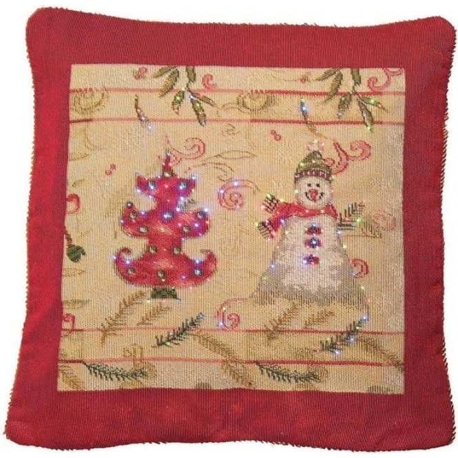 Seaquin Snowman & Tree Tapestry Cushion Cover