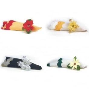 Tray of 36 Napkin Rings - Available in 4 Colours