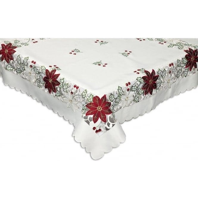 Christmas Tablecloths.Seaquin Vicenza Christmas Tablecloth